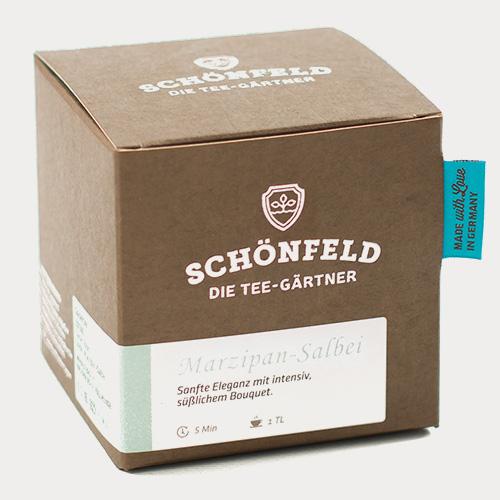 Verpackung Marzipan - Salbei